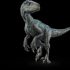Blue Portrait Jurassic World Fallen Kingdom Poster In 2019