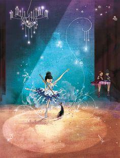 SeL - Illustration - Danseuse étoile - Cendrillon http://grainesdesel.blogspot.fr/