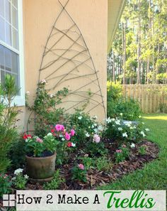 How To Create A Whimsical Trellis From Rebar for less than $20.