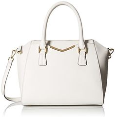 Calvin Klein Saffiano Convertible Satchel Bag White One Size >>> Check this awesome product by going to the link at the image.