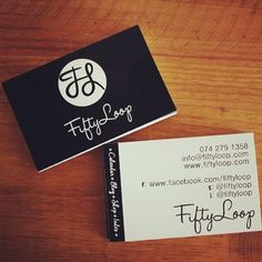 corporate branding - fiftyloop - black and white - business cards Corporate Branding, Photo Online, Business Cards, Black And White, Instagram, Lipsense Business Cards, Blanco Y Negro, Brand Management, Black White