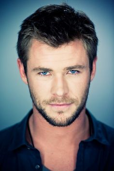sweet heaven above.... Chris Hemsworth is most certainly a god. those eyes....  GAWD!!! Lawrdy!!!!