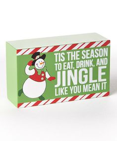 Take a look at this 'Tis the Season' Holiday Box Sign by Dennis East International on #zulily today!