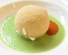 Palla di mozzarella con tagliolini al basilico di Rosanna Marziale - immagine tratta da www.identitagolose.it