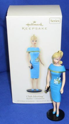 Club Meeting, in the Barbie Series Hallmark Ornament, 2008