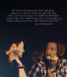 They're like actual brothers ♥ This. This right here. Is why they changed my life. Maybe, someday, I'll be able to tell them that it is THEM, not Sam and Dean, who taught me the real meaning of family.