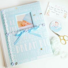 Wrapping and shipping this adorable baby record book..get yours now more at my shop