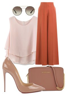 """""""Untitled #1222"""" by social-outcast-16 on Polyvore featuring Chicwish, Valentino, Michael Kors, Christian Louboutin and Prada"""