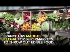 France made it illegal for supermarkets to throw out edible food - YouTube