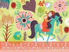 Horsey Love Canvas Art
