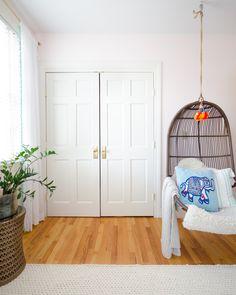 How to Convert Sliding Doors to Hinged Doors - The Chronicles of Home Wood Sliding Closet Doors, Bedroom Closet Doors, Barn Doors, Master Closet, Converted Closet, Carport Patio, French Doors Patio, Traditional Doors, Home Fix