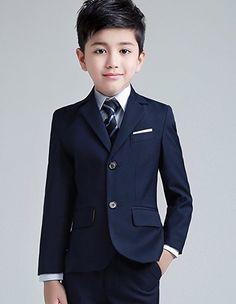 Yuanlu Boys Colorful Formal Suits 5 Piece Slim Fit Dresswear Suit Set: Amazon.co.uk: Clothing