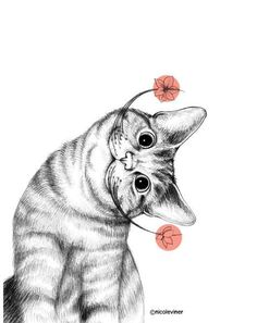 Dali's Cat – What more to say other than we just LOVE cool stuff! Dalis Katze – Was gibt es anderes zu sagen, als dass wir cooles Zeug LIEBEN! Cute Cats, Funny Cats, Silly Cats, Sneaky Cat, Cat Wallpaper, Cat Stickers, Cat Drawing, Crazy Cats, Animal Drawings