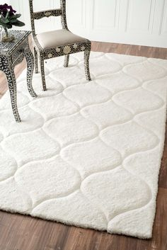 Douxsuper Soft Luxury With Carved Trellis Ml01 Rug