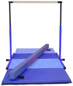 Mini gymnastic setup - Blue/Light Blue