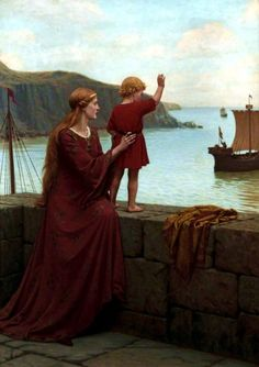 Edmund Blair Leighton - Farewell, 1922