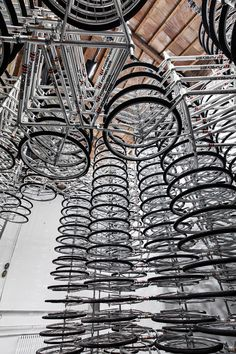 """Forever Bicycles by Ai Wei Wei: """" The welding of several thousands of bikes together is a commentary on the rapid pace of China's social change."""""""