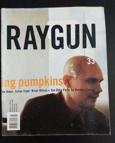 RAYGUN Magazine nr 33 Feb 1996 ft. Smashing Pumpkins The   Etsy Typographic Design, Typography, April Greiman, Julian Cope, Matthew Sweet, Karel Martens, Robert Hale, Max Huber, Chip Kidd