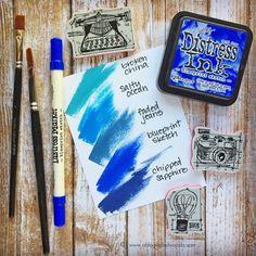 Tim Holtz Distress Ink Color POP: Blueprint Sketch!