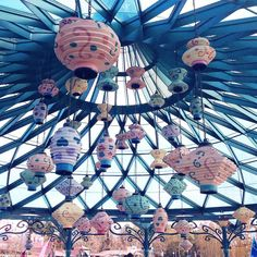 Mad Hatter's Tea Cups' lanterns at Disneyland Paris  One of my favorite attractions in Fantasyland ✨ #disney #disneyland #disneylandparis #fantasyland #aliceinwonderland #madhatter #madhattersteacups