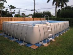 Rectangle Above Ground Pool Decks decks for above ground intex ultra frame rectangular pools