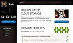 Hive es una plataforma de almacenamiento en la nube que nos ofrece, de forma gratuita, espacio ilimitado para almacenar y compartir todos nuestros archivos.