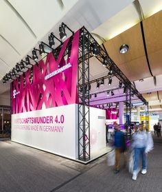 Deutsche Telekom Trade Fair Stand at Hannover Messe 2015 by hartmannvonsiebenthal, Hannover – Germany » Retail Design Blog