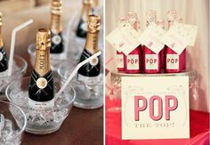Champagne- on this site there is homemade drink ideas could be good for favors!