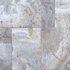 "MS International Silver Travertine 18"" x 18"" Travertine Mosaic Tile in Honed Gray"