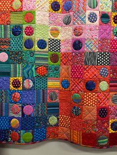 Magnifique quilt multicolore !