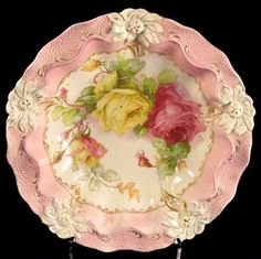 Beautiful vintage china From: Berengia, please visit Antique Dishes, Antique Plates, Vintage Plates, Vintage Dishes, Antique China, Vintage China, Decorative Plates, Teapots And Cups, Teacups