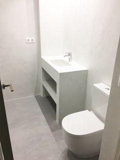 Reforma de baño con microcemento - Reformas en Alicante Masfir Ideas Baños, Beach House, Toilet, Villa, Alicante, Bathroom, Interiors, Decoration, Renovation