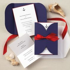 Nautical Beauty Wedding Invitation - These are nautical which can work with a beach wedding but may be better suited for a wedding that is taking place on a boat.