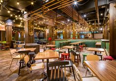 Enormous South East Asian Hawker Precinct Opens in Canley Vale at the Cabra-Vale Diggers Club Asian Interior Design, Interior Styling, Food Court Design, Asian Restaurants, Traditional Interior, Apartment Interior, Restaurant Design, Places To Eat, Scandinavian Design