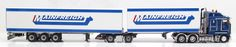 Jays Models - Custom Mainfreight Road Train. 1:50 Scale Kenworth K200 with Dry Goods Trailers..