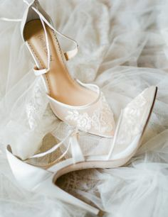 ee499ecb031a This is How You Get Married in the South of France. Wedding Shoes Bride Wedding FlatsBride ShoesWedding DressesProm HeelsToe ...
