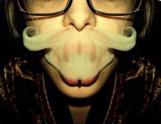 smoky stache #weed#marijuana #cannabis #blunts #bongs #ganja #420 #stoner #herb #joints #herb #plants #hemp #haze #hash #smoke #smoking #high