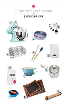 Wanting to customise your wedding registry to suit your hobby and love for cake? Check out our list of 12 essential baking tools to take into married life.