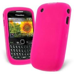 Celicious Bright Pink Soft Silicone Skin Case for Blackberry Curve 8520 / 9300 3G