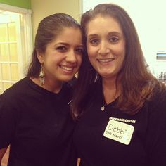From left to right: Grace and Debbie at the 2013 holiday party at the westchase spa