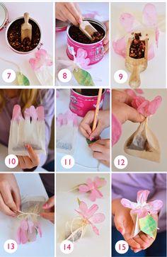 willowday: DIY: Flower Tea Bags (Post #2)