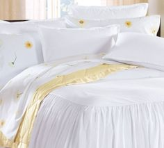We offer a fine selection of luxury Egyptian cotton sheets, towels and robes all of which can be customized with our embroidery and monograming services. Sunflower Room, Luxury Sheets, Egyptian Cotton Towels, Little Cottages, Fine Hotels, Percale Sheets, Romantic Homes, Take Me Home, Flat Sheets
