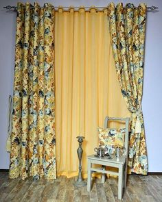 Perdele si draperii :: Draperii confectionate :: Draperie Romina galben, albastru