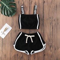 Cute Lazy Outfits, Crop Top Outfits, Sporty Outfits, Swag Outfits, Retro Outfits, Stylish Outfits, Girls Fashion Clothes, Teen Fashion Outfits, Outfits For Teens