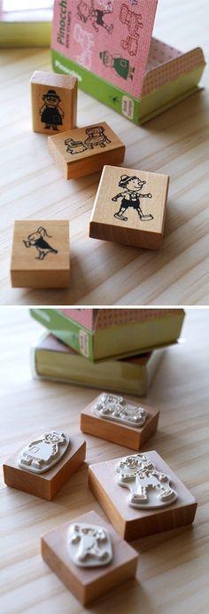 Book Stamp Set Pinocchio by karaku on Etsy, ¥1000