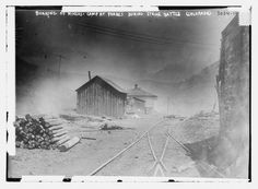 Burning of miner's camp at Forbes during strike battle -- Colorado