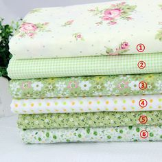 Diy handmade patchwork fabric fresh green 100% cotton cloth small neadend,6 colours a set,50*50cm - http://thekopf.com/products/diy-handmade-patchwork-fabric-fresh-green-100-cotton-cloth-small-neadend6-colours-a-set5050cm/
