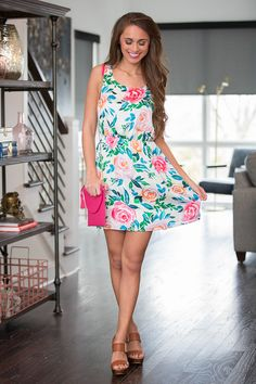 This Love Is Ours Floral Dress - The Pink Lily