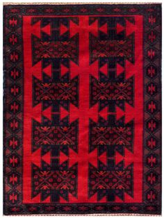 Afghan Hand-knotted Wool Rug