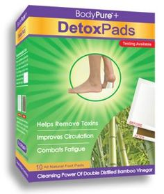 DETOXIFY WHILE YOU SLEEP! BodyPure®+ detox pads are a potent foot 'pad' designed to absorb toxins from your body. Price: $33.95.